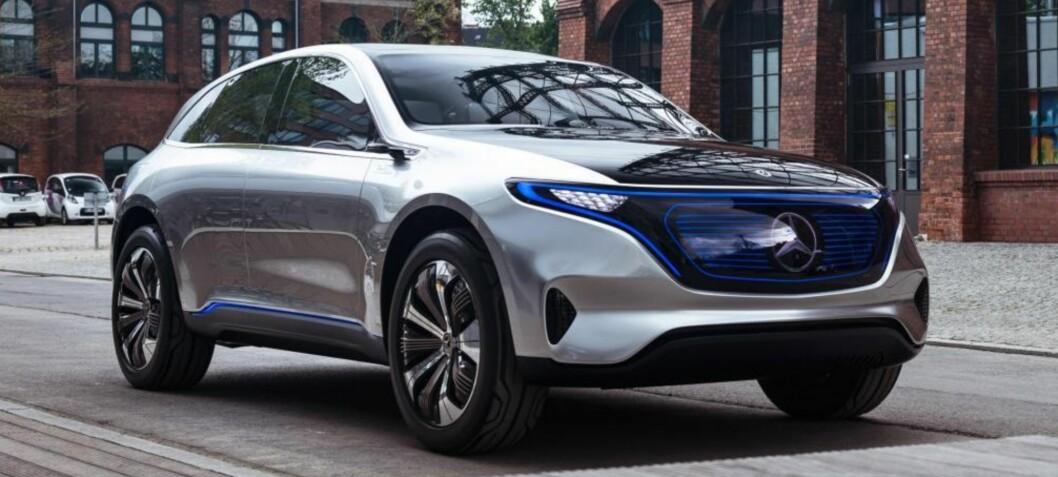 Norge først i verden med elektriske Mercedes EQC