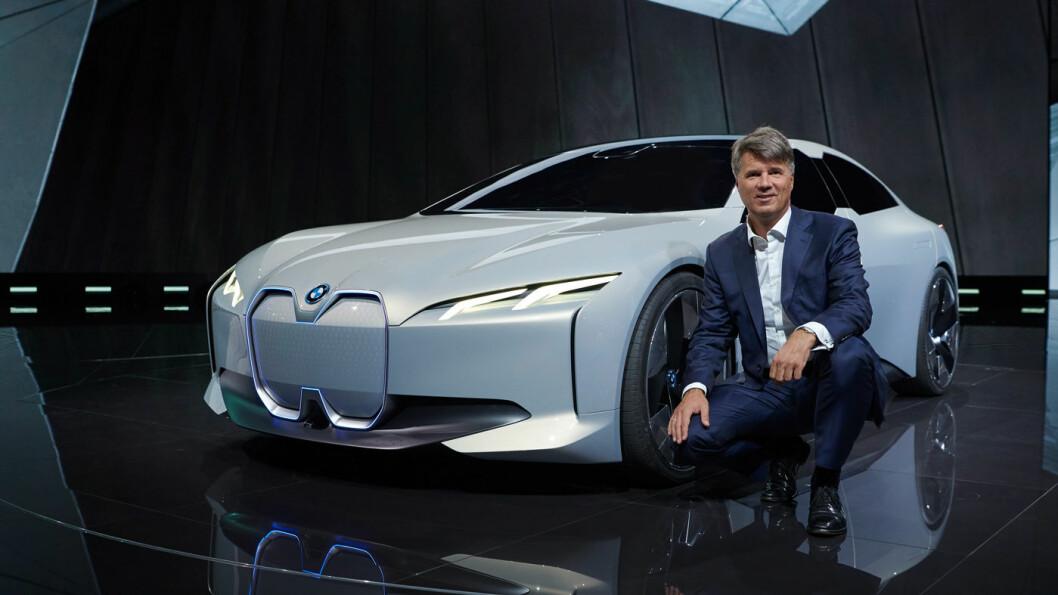 NESTE FRA BMW: Her er bilen som BMW-sjef Harald Krüger virkelig skal utfordre Tesla med, i Vision Dynamics. Foto: BMW