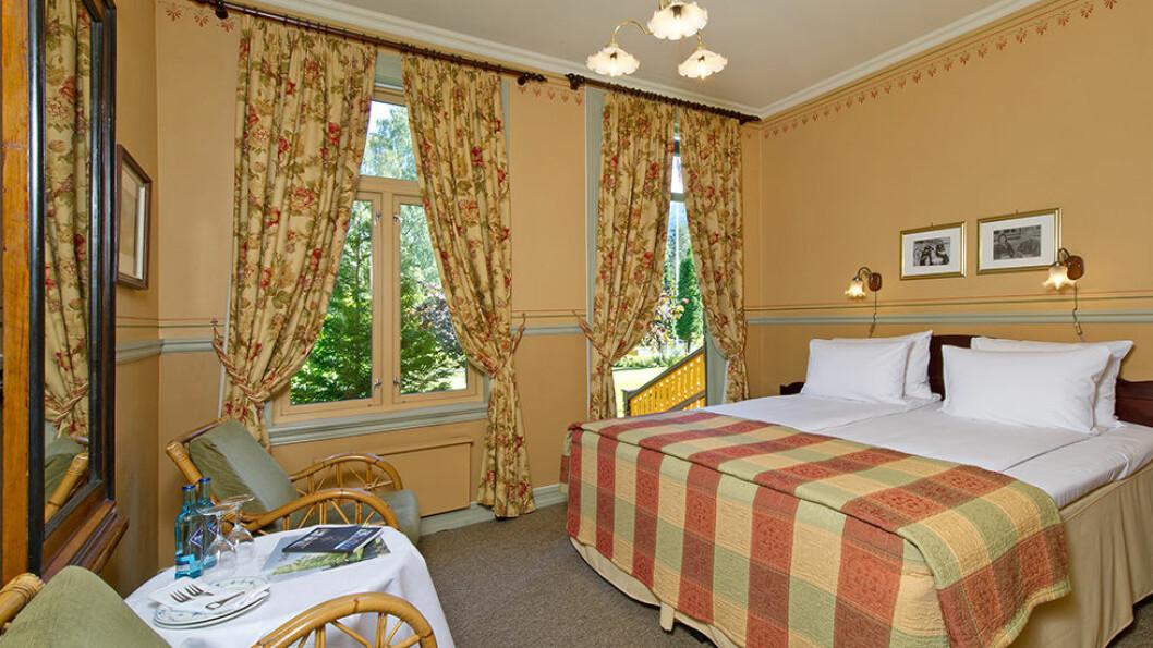 Rommene på Dalen hotel er rommelige og komfortable.