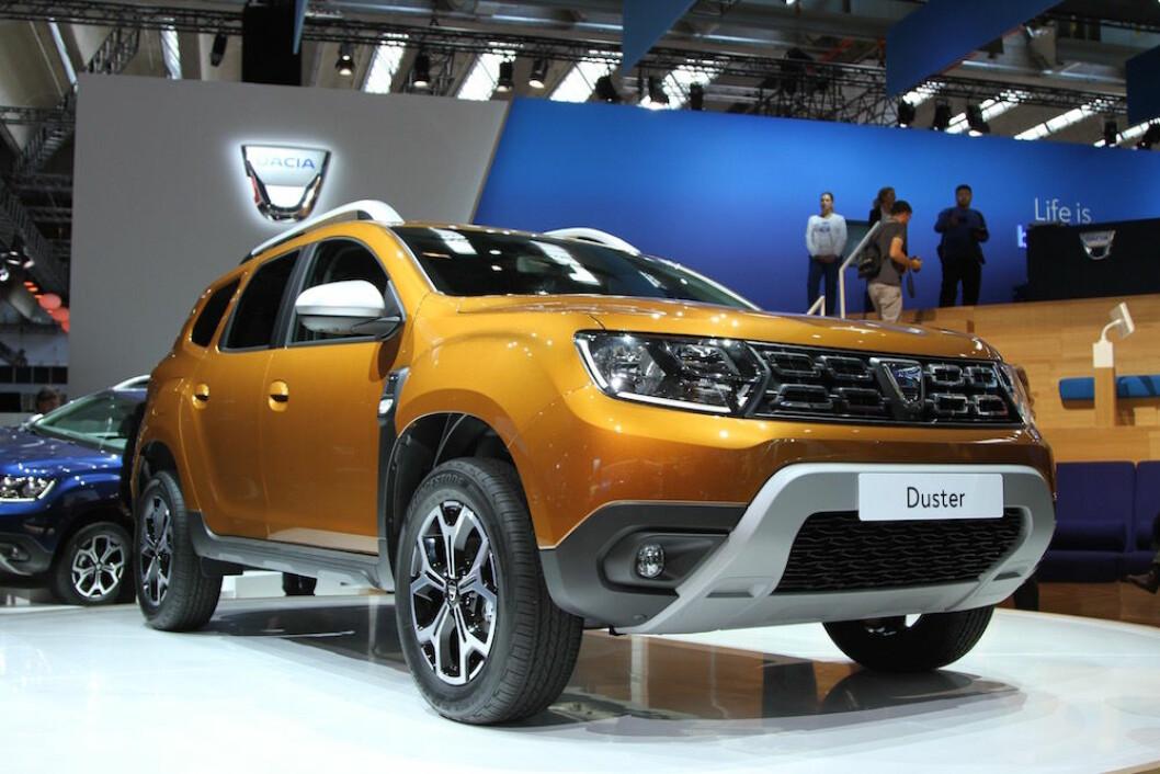 BARSKERE: Utseendet er blitt barskere men prisen fortsatt svært rimelig. Nye Dacia Duster kommer til Norge tidlig i 2018. Foto: Rune Korsvoll