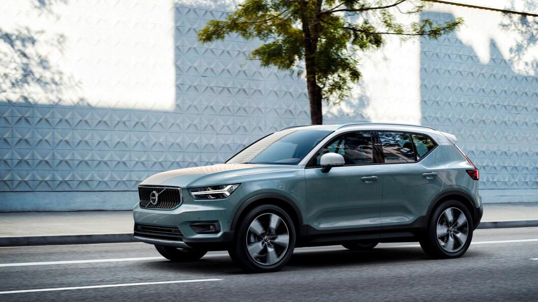 UNGDOMMELIG: Nye XC40 kommer til Norge i mars og er mer ungdommelig i designet. Foto: Volvo