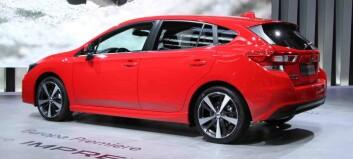 Nye Subaru Impreza klargjort for hybrid og el
