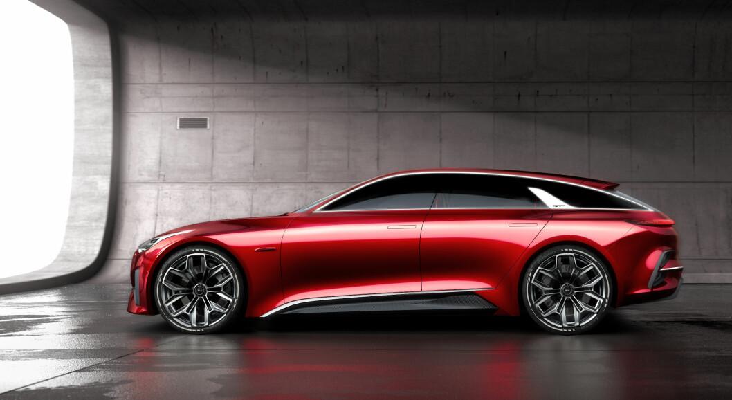 ELEGANT: Kia Proceed Concept er den fineste bilen vi har sett fra bilmerket som til nå ikke har vært kjent for å bygge de mest spennende bilene. Foto: Kia