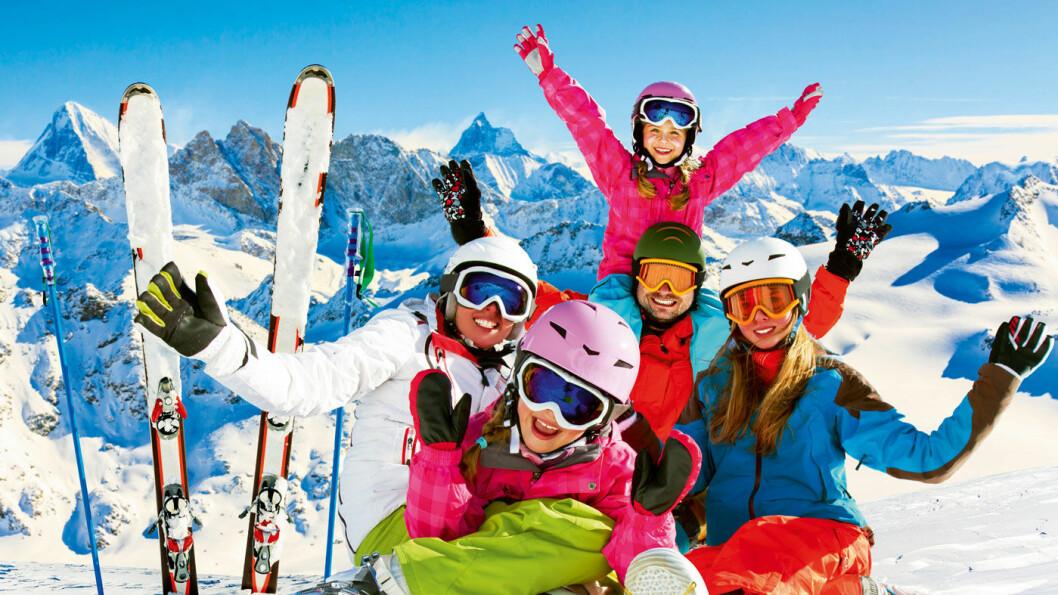 MORO FOR HELE FAMILIEN: De sveitsiske Alpene er et eldorado for alle som er glade i å stå på ski. Foto: Shutterstock