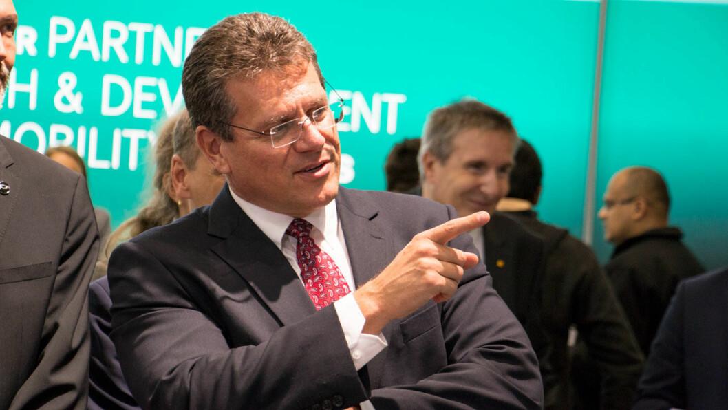 VIL HA ET NYTT AIRBUS: Slovakiske Maros Šefčovič har ansvar for EUs energipolitikk.