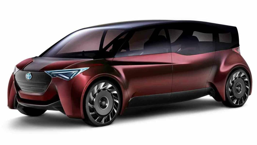 KLAR FOR 100 MIL? Toyota sier den hydrogendrevne konseptbilen Fine-Comfort Ride skal komme med en rekkevidde på 1000 km, nær det dobbelte av dagens Toyota Mirai.