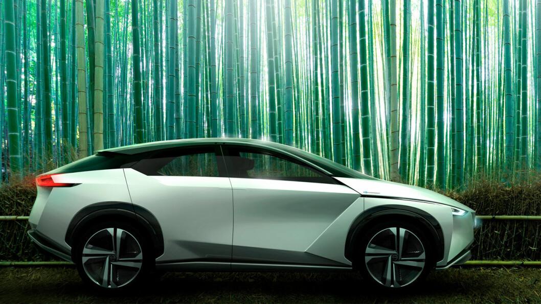 NYTT KONSEPT: Nissan IMx ble vist fram på bilutstillingen i Tokyo onsdag, med 600 km rekkevidde og firehjulstrekk, og høy grad av autonomi. Foto: Nissan