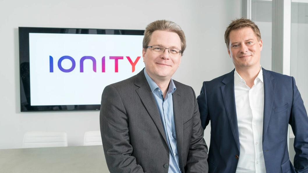 LEDELSE: Marcus Groll (til venstre) og adm. direktør Michael Hajesch i Ionity.