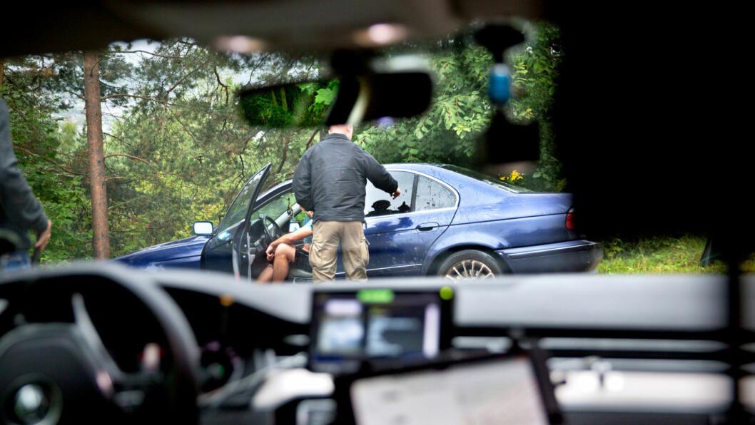 TRENDEN FORTSETTER: Kjøring under påvirkning av andre rusmidler er nå vanligere enn kjøring med promille. Foto: Paal Audestad