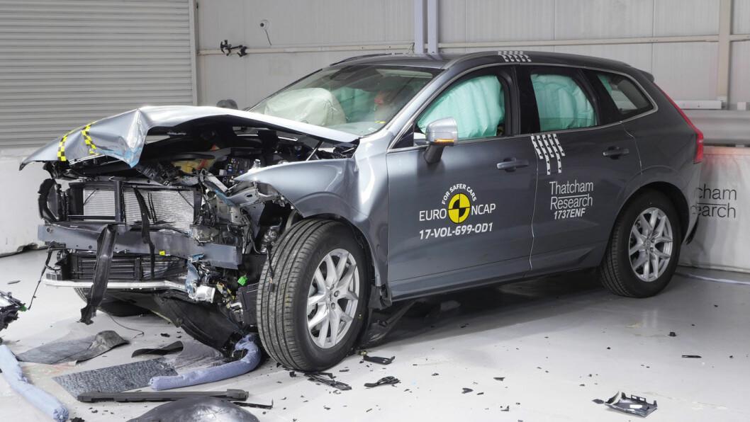 ÅRETS BESTE: Nye Volvo XC60 fikk årets hittil høyeste score i sikkerhetstesten til Euro NCAP. Foto: Euro NCAP