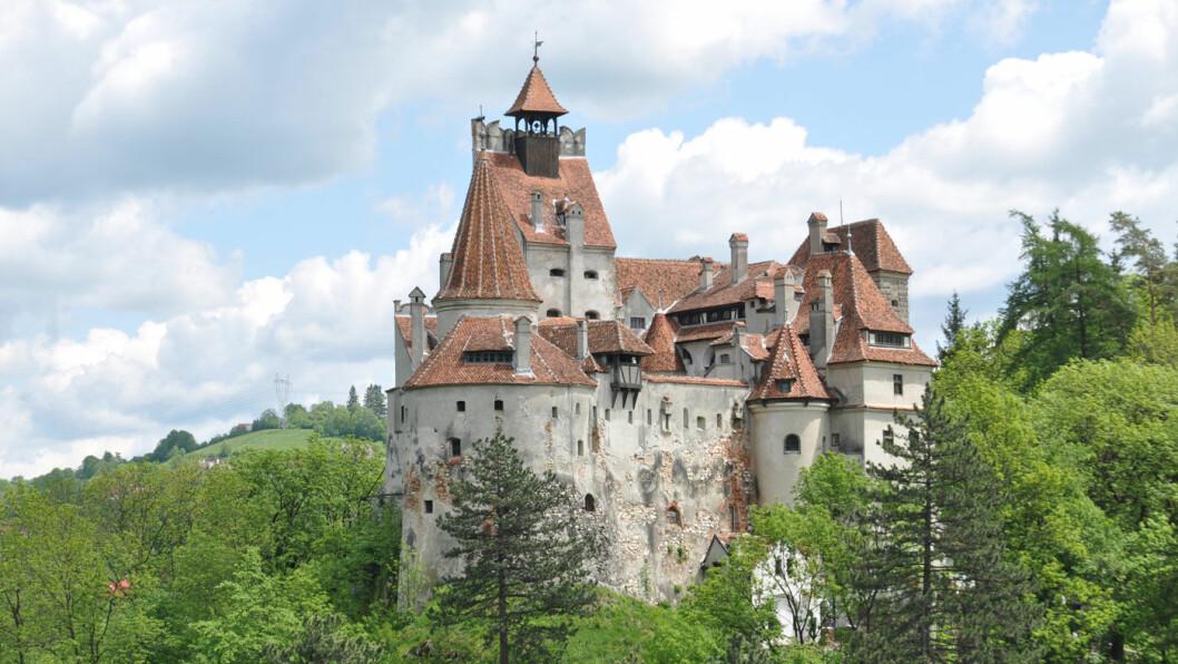 DRACULAS SLOTT: Bran slott ligger i den lille byen Bran i Transilvania.