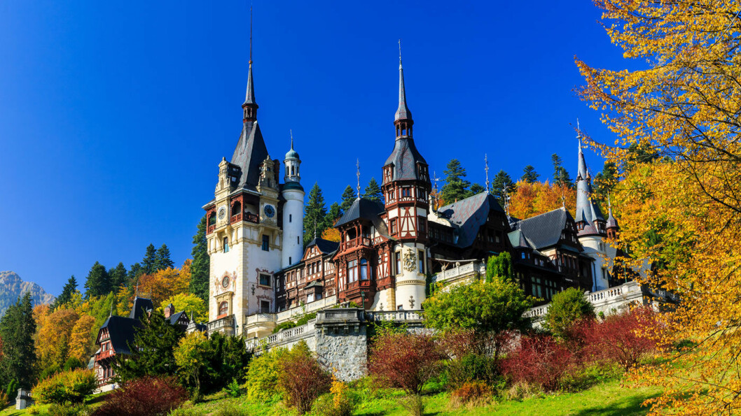 EVENTYRSLOTTET: Slottet Peles som Kong Carol I av Romania lot bygge mot slutten av 1800-tallet. Foto: iStock