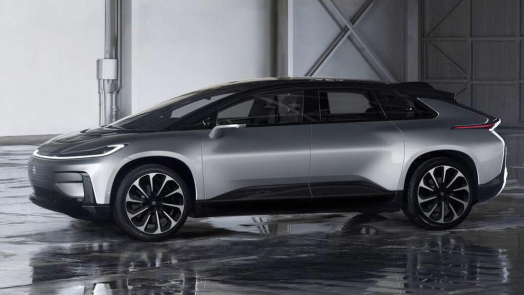 BARE EN DRØM? FF91 er Faraday Future-modellen som skulle utfordre Tesla. Nå har indiske Tata kjøpt seg opp i prosjektet.