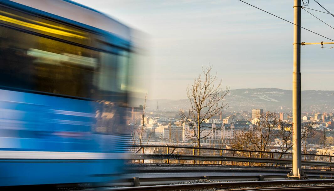 MINDRE TRIKK: Det har vært færre kollektivtrafikken, også på Ljabru-trikken opp Kongsveien i Oslo.