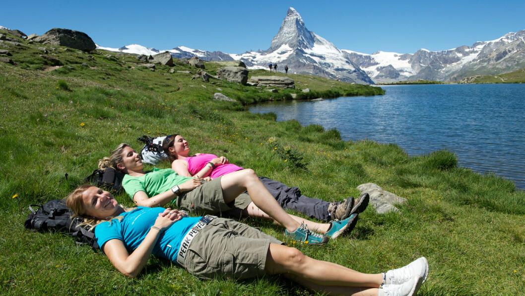 FANTASTISK TURTERRENG: Alpene er et spesielt flott område å gå tur i. Foto: Michael Portmann