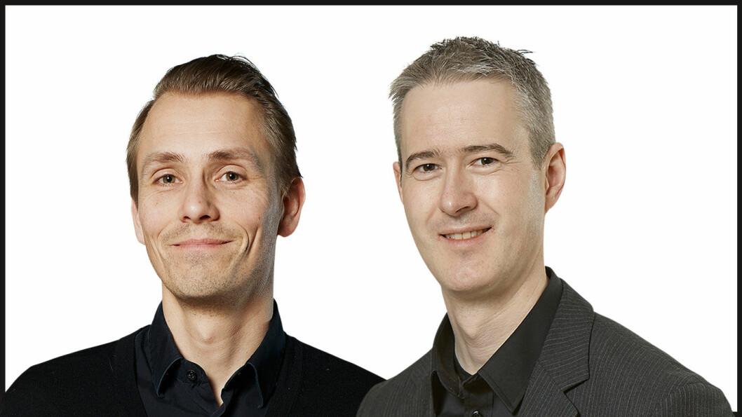 NAF-EKSPERTENE: Geir Malmedal (t.v.), leder av politisk avdeling i NAF, og Tom André Nilsen, teknisk ekspert i NAF.