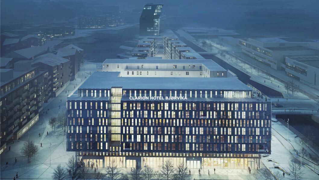 HEFTIGE OPPLEVELSER: Clarion Hotel Bjørvika i Oslo skal fylles med «energi og opplevelser», lover Petter Stordalen.