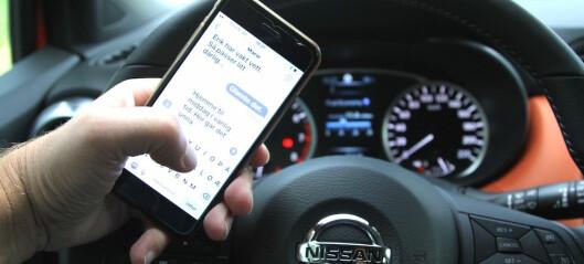 Skal snikfotografere sjåfører som har mobil i hånden
