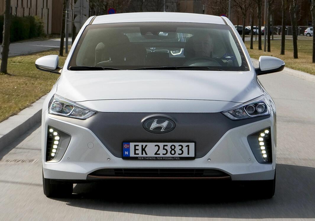 UTMERKER SEG: Fra den ene testen til den neste har Hyundai Ioniq (bildet) fra starten pekt seg ut som særdeles energieffektiv.