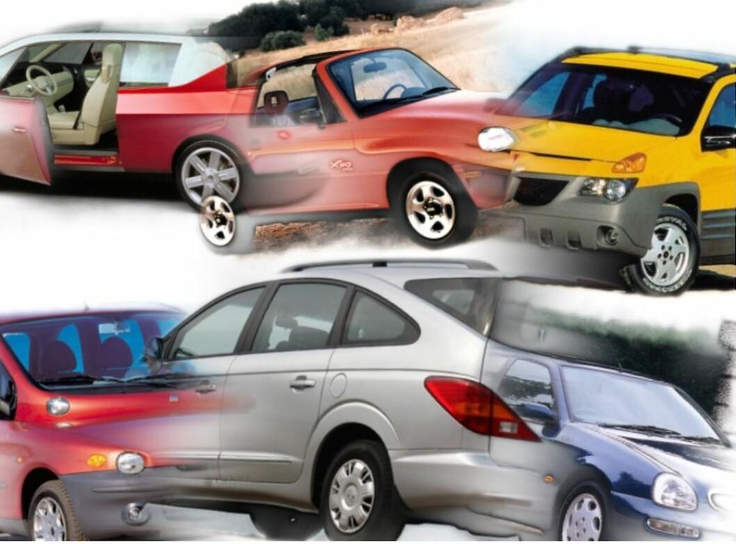UTSEENDET TELLER: Når du ser disse bilene kan det være vanskelig å forstå hva designerne har tenkt på.