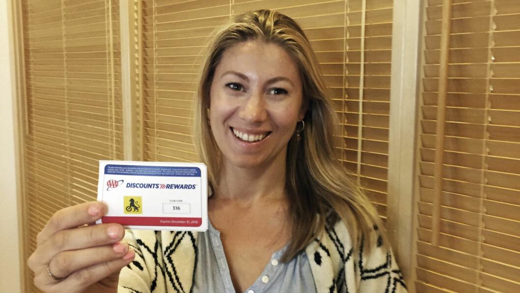 SHOW YOUR CARD: Last ned dette kortet på NAFs hjemmeside, så sikrer du deg rabatter på reise i USA. Foto: Lina Schøyen