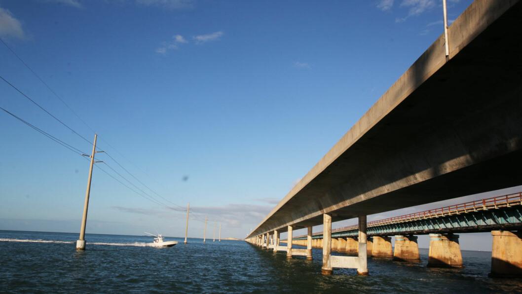 SCENIC HIGHWAYS: Broene som bringer øykjeden The Keys sammen, gjør kjøreturen ekstra spektakulær.