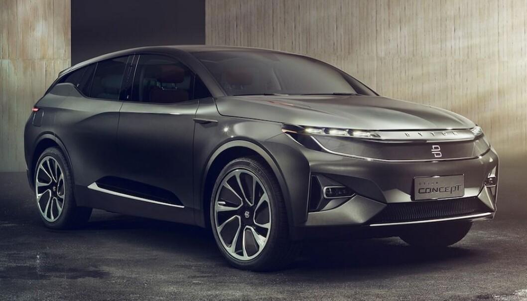 TYSK-KINESER: Premium-SUV-en Byton M-Byte ventes hit til landet i år - eller neste år. Innstegsprisen ble satt under 500.000 kroner.