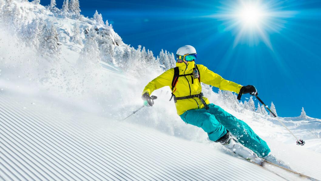 VINTER I BAKKEN: Vinterferie er snø og skiglede, men det skiller mange tusen kroner avhengig av hvor du velger å reise og hvordan du velger å bo. Foto: Shutterstock