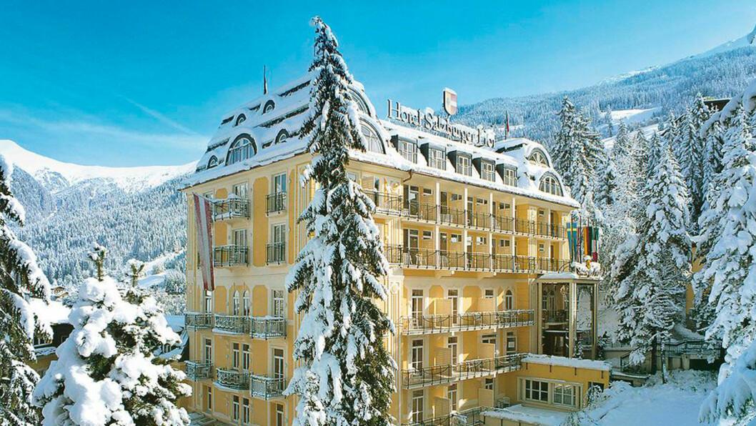 RETT VED SKIHEISEN: Hotel Salzburger Hof ligger med fin beliggenhet i Bad Gastein.