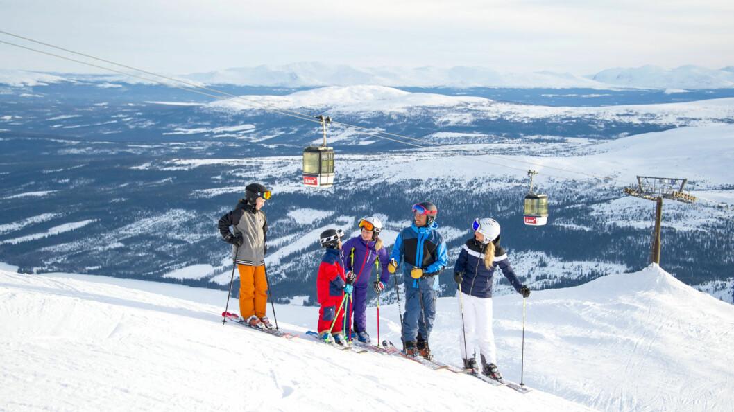 SKIMEKKA:Åre er Skandinavias største skianlegg med 40 heiser og 100 bakker.