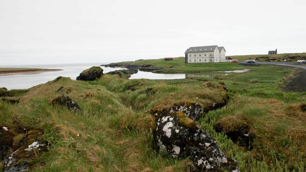 EN ATTRAKSJON: Hotel Budir, helt vest i ødemarka ute på Snæfellsnes, har legendestatus blant Islands bedre hoteller. Foto: Jon Terje Hellgren Hansen