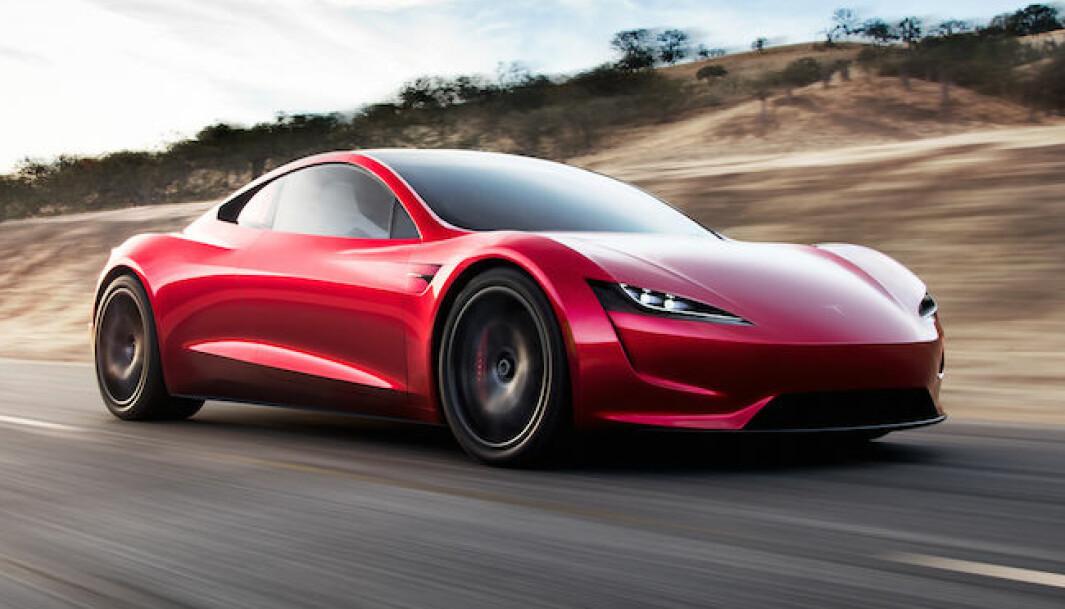 FÅR RAKETT-HJELP: Med Space X rakett-t,eknologi til hjelp skal den kommende Tesla Roadster klare 0-60 miles i timen på 1,1 sekunder.