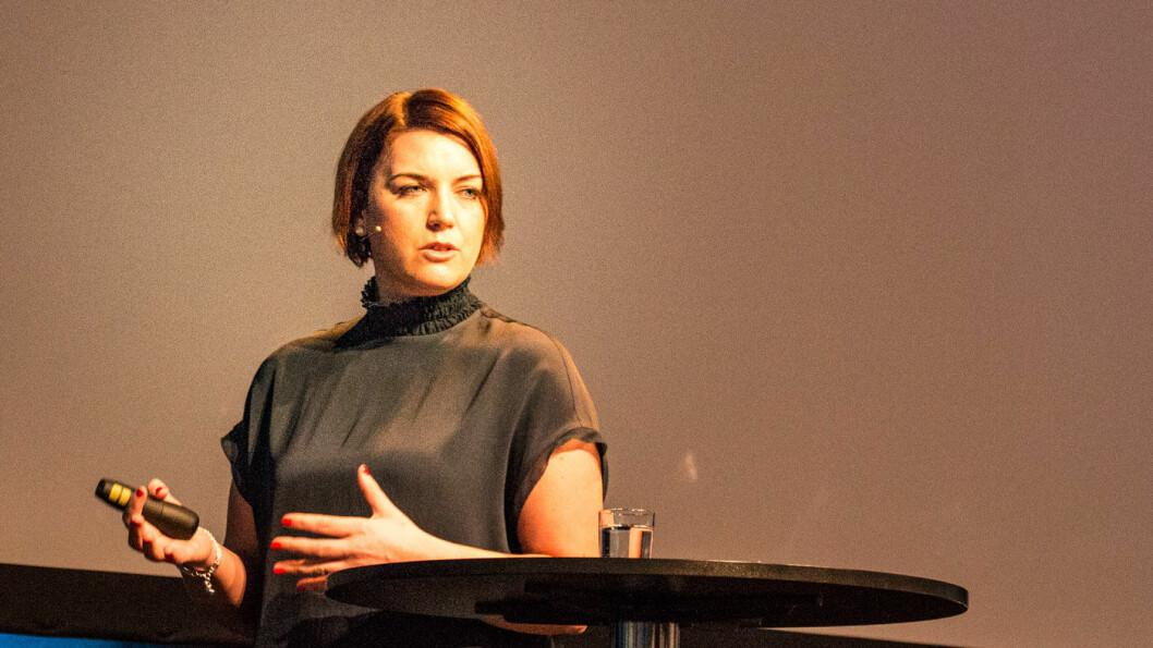 TROR PÅ ELBIL: Christina Bu, generalsekretær i Norsk elbilforening, under EV Summit i Oslo. Foto: Peter Raaum