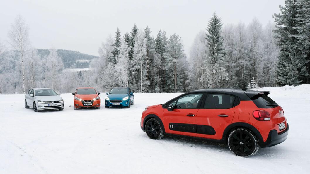 MYE KOMFORT OG SIKKERHET: De nye småbilene har ikke bare vokst i størrelse. Nå har de komfort og sikkerhetsutstyr som kan måle seg med store biler. Foto: Jon Terje Hellgren Hansen