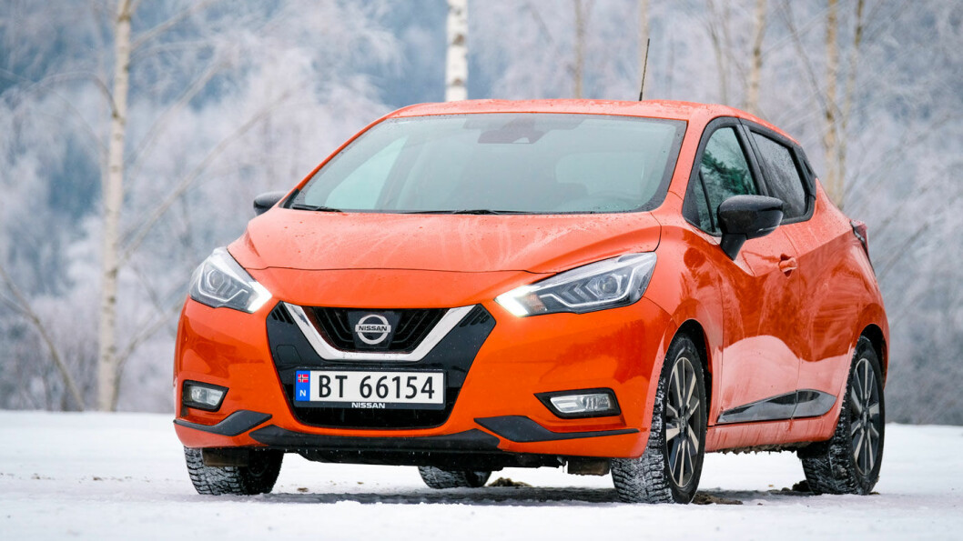 SMÅTT OG GODT: Nissan Micra har inspirert designet på 2018-utgaven av elbil-favoritten Nissan Leaf. Foto: Jon Terje Hellgren Hansen