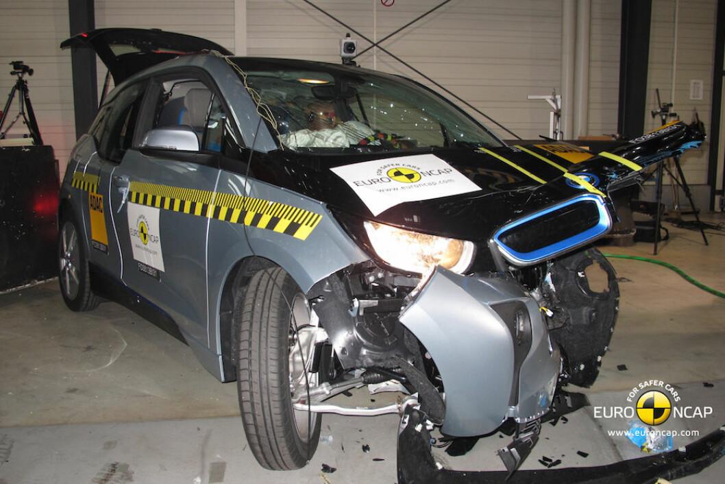 ELBIL: BMW i3 etter kollisjonstest hos EuroNCAP