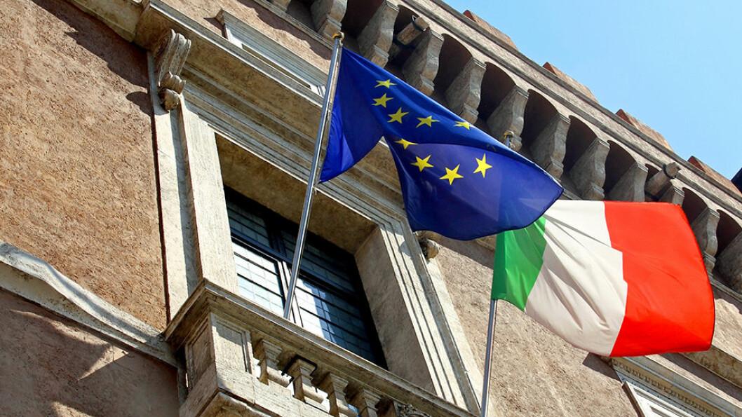 Fra den berømte balkongen på Palazzo Venezia, holdt Benito Mussolini sin erklæring om «det nye Italia» i 1936. Foto: Shuttlestock