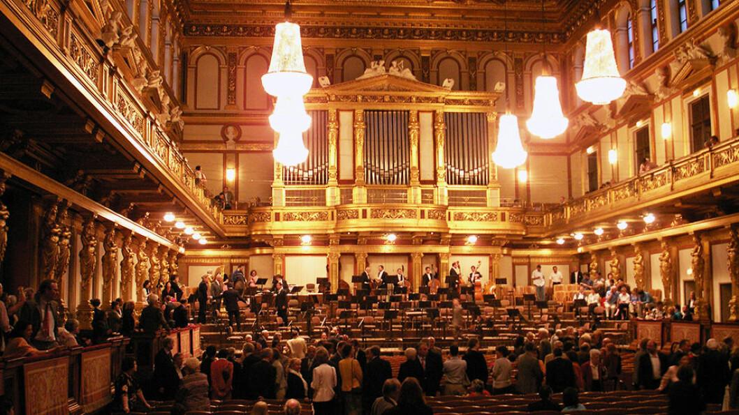 Wien er kjent for klassisk musikk, og vi skal naturligvis på konsert i Musikverein. Foto: Enjoy Travel