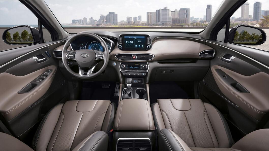 GOD UTSIKT: Hyundai kommer med ny utgave av sin premium-SUV Santa Fe. Foto: Hyundai