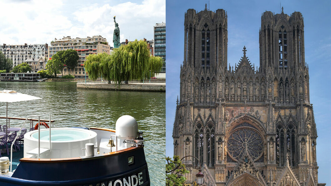 Elvecruiset tar oss fra Paris til Champagne, med stopp i den flotte katedralen i Reims underveis. Foto: Escape Travel
