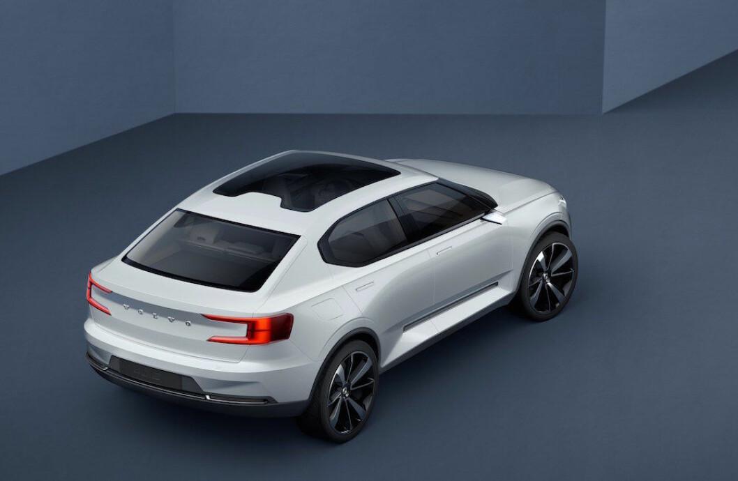 ELBIL I 2019: Dette kan bli Volvos første elektriske bil høsten 2019 - noen måneder før XC40 kommer som ren elbil. Foto: Volvo
