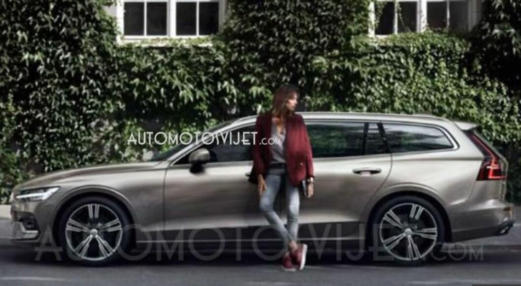 LEKKET: Bildene av nye Volvo V60 er lekket av dette utenlandske nettstedet.