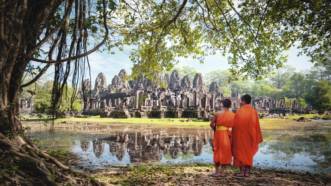 ANGKOR WAT: Ruinbyen Angkor ble forlatt og glemt, og de gamle templene ble etterhvert overgrodd av jungelen før de ble gjenoppdaget. Foto: Shutterstock