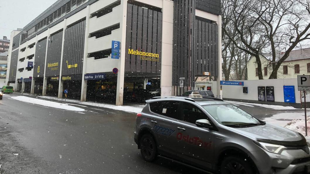 VARIERER STORT: Spektrum P-hus er det billigste av de store P-husene i Oslo. Prisene i hovedstaden varierer kraftig. Foto: Geir Røed