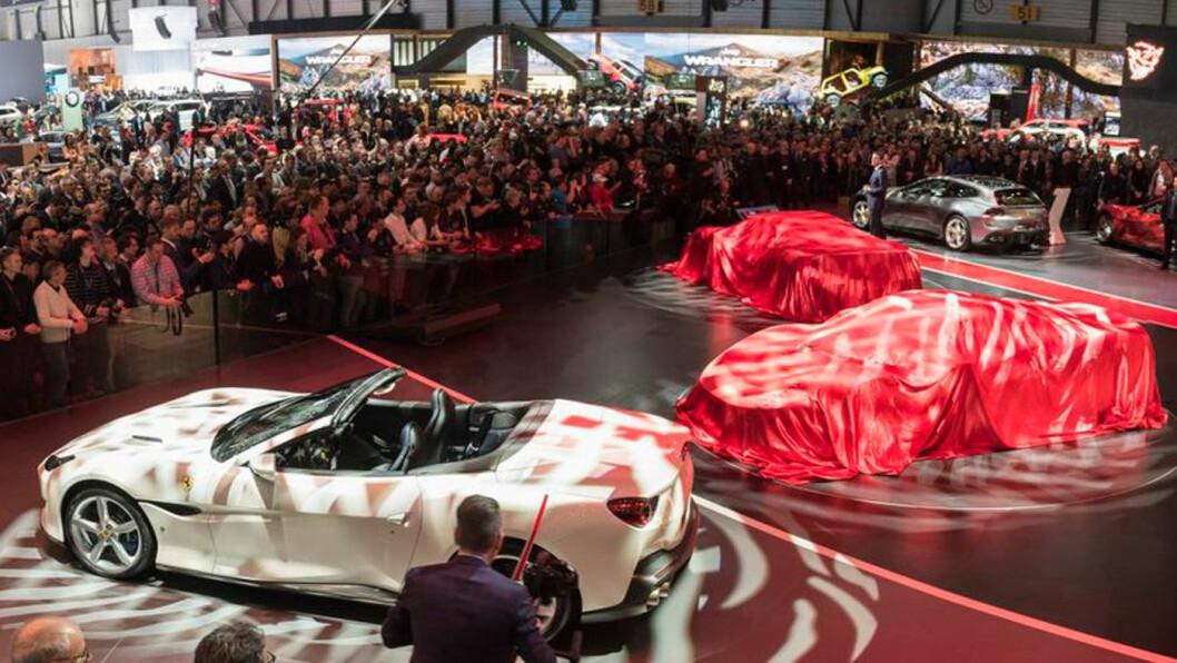 BIL-FEST: Mer enn 700 000 mennesker er ventet til bilutstillingen i Genève de neste 10 dagene. Foto: Geneva Motor Show