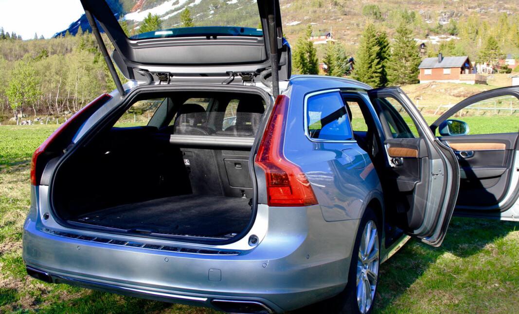 GALE TALL: Volvo V90 på det norske markedet har mindre bagasjevolum enn Volvo oppgir.