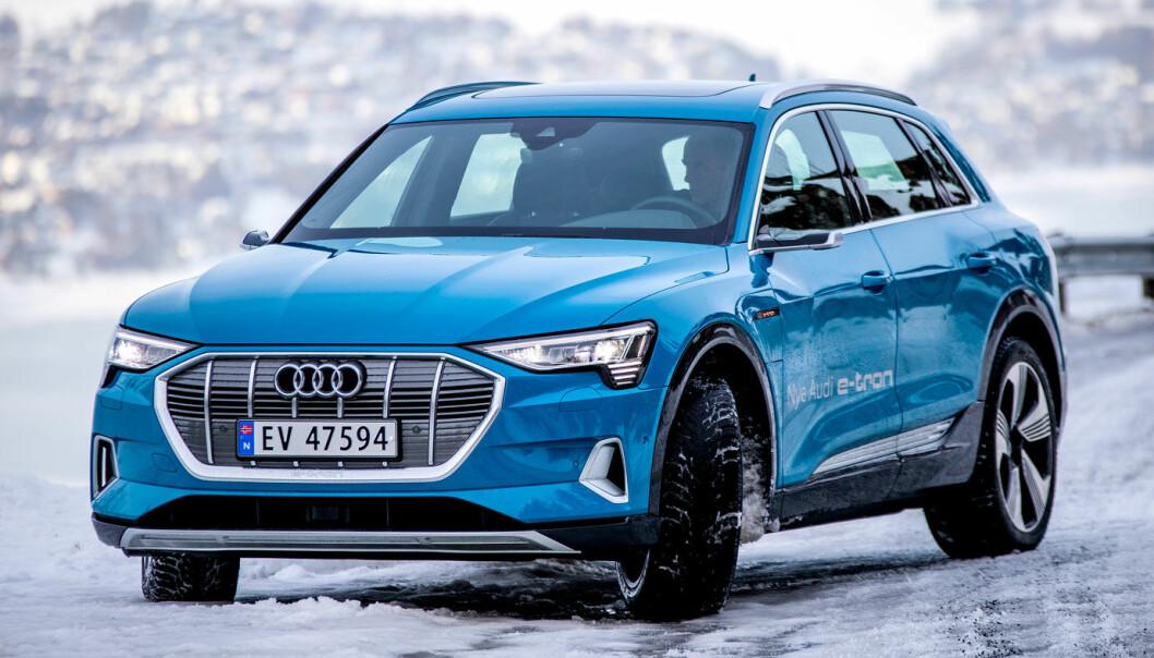 NORSKTOPPEN: El-SUV-en Audi e-tron ble Norges mest solgte bil i 2020.