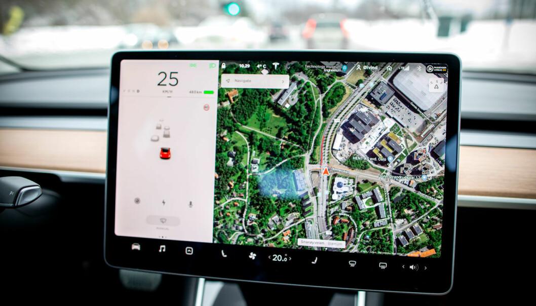 SKAL KLARE SEG SELV: Med den nye FSD-programvaren skal Teslas Autopilot etterhvert bli i stand til å navigere på egenhånd også i slike komplekse omgivelser.