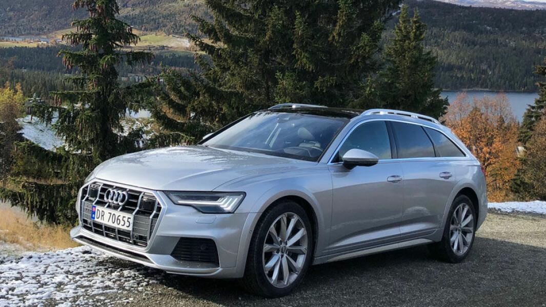 LANGTURKONGE: Audi A6 Allroad trives best når den kan sette fart på lange etapper mot den norske fjellheimen. Da er komforten bortimot optimal.