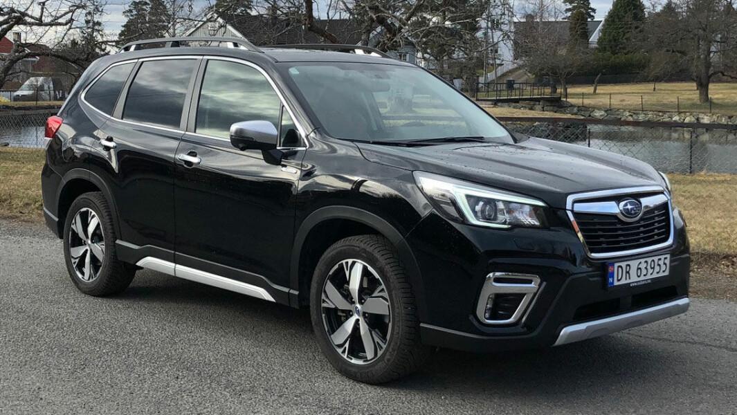 ROBUST: Utseendet til Subaru Forester får ingen pris, men bilen signaliserer noe robust og trygt.